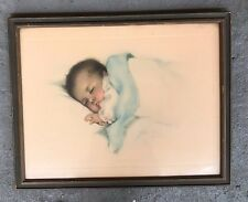 "BESSIE PEASE GUTMANN ICONIC ""A LITTLE BIT OF HEAVEN"" (#650) WATERCOLOR PRINT"