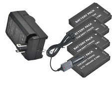 New 4x FXDC02 CFXDC02 Battery + Charger for Drift HD Ghost-S Camera
