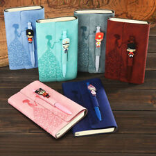 Butterfly Girl 1pc Notebook Paper Journal Diary Leather Planner Agenda Free Pen