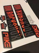 Rock SHOX PIKE MTB Forcella Decalcomanie Arancione & Grigio Stealth