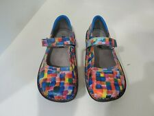 Alegria Womens Multi Color Mary Jane Shoes Size 36/6 M