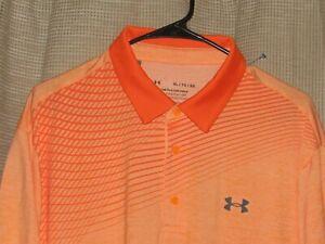 NWOT New UNDER ARMOUR Playoff Polo Shirt Golf Orange Mens XL Microfiber