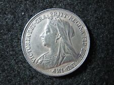 1899 Great Britain Shilling High Grade Nice Details Quality