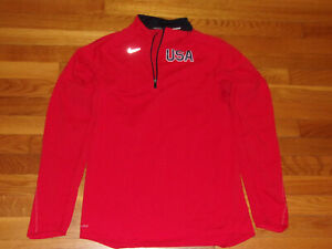 NIKE RUNNING DRI-FIT USA 1/2 ZIP LONG SLEEVE PULLOVER JERSEY WOMENS SMALL EXC.