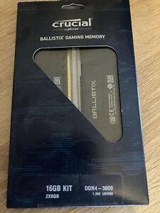 Crucial Ballistix Schwarz 16 GB Kit (2 x 8 GB) DDR4-3600 CL16 in OVP
