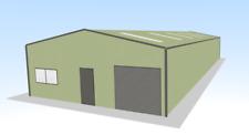 Steel Framed Buildings - Industrial Steel Unit - 10m x 25m x 3.5m Steel Building