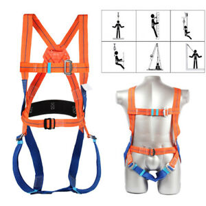 3 Point Safety Fall Arrest Full Body Protection Harness Scaffold Hook Lanyard