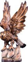 Adler Real CM 16 Flügel Offene Geschnitzt IN Holz Der IN Gröden Dekoriert Hand
