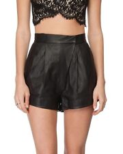 LOVER THE LABEL Black Leather High Waist Shorts 6
