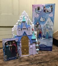 Disney FROZEN Castle & Ice Palace Mattel Elsa & Anna Dolls Complete Boxed