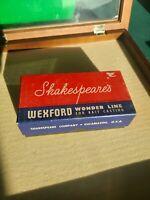 Old Vintage SHAKESPEARE WEXFORD WONDER LINE SPOOLS + Box -