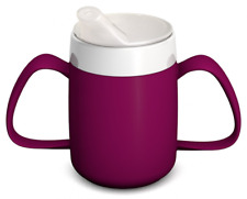 BEST Two Handled Mug Internal Cone Spouted Lid Small Opening Break Resistant NEW
