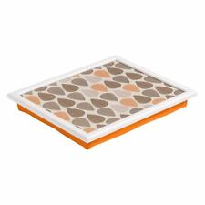 Orange Leaf Lap Tray, Beanbag Cushion