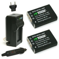 Wasabi Power Battery (2-Pack) and Charger for Fujifilm NP-95