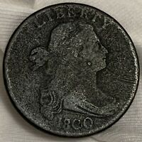 1800/1798 Draped Bust Large Cent Coin ~ Style II Hair (L370)