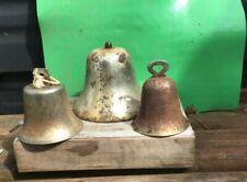 Vintage Old 3 Nautical Boat Ship Bells