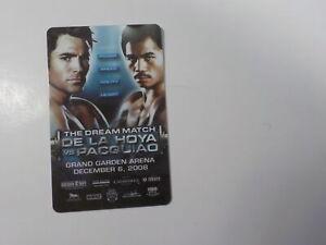 MANNY PACQUIAO vs OSCAR DE LA HOYA Boxing Key Card 2008 Fight VTG Old Sports USA