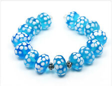 4 x handmade lampwork beads Glasperlen 14mm  LB244