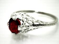 Stunning Art Deco Ring w/ 1.16ct IGI/EGL Cert Untreated RED RUBY 14K White Gold