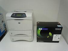 MINT HP LASERJET 4250 4250TN LASER PRINTER + NEW COMP HP Q5942X TONER + WARRANTY