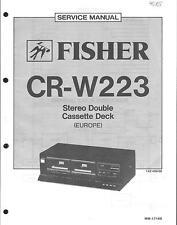 Fisher Original Service Manual für CR-W 223