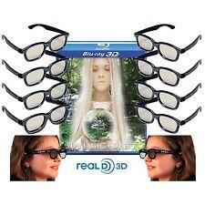 10 3D Glasses For Passive LG Vizio JVC Toshiba TV Blu-ray Real-D!!! Lot Starter!