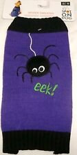 "Dog  SPIDER SWEATER Halloween Costume  X/S  10""-11"""