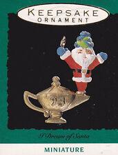 1993 Hallmark I Dream of Santa Miniature Ornament Nib New