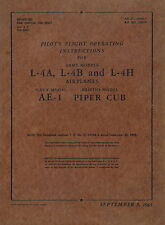 PIPER L-4A, L-4B, L-4H, AE-1 and PIPER CUB PILOT'S FLIGHT OPERATING INSTRUCTIONS