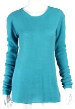 MIU MIU Turquoise Wool Blend Chunky Knit Crewneck Sweater 46