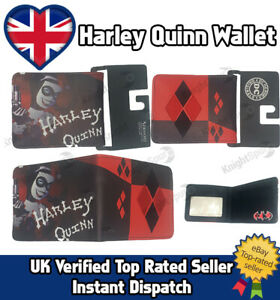 Harley Quinn Suicide Sqaud PU Leather Wallet EMBROIDERED Christmas Gift DC Comic