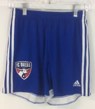ADIDAS MLS FC Dallas SOCCER SHORTS Climacool BLUE/WHITE/RED MEN'S MED