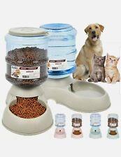 Automatic Pet Food Dispenser Dog Cat Feeder Water Auto Dish Bowl