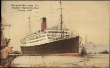 raymond Whitcomb Co Winter Mediterranean Cruise 1931 PAQUEBOT Cover Postcard