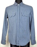 LEVIS STRAUSS Men's Medium Cotton Wool Western Checked Snap Button Up Shirt M