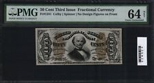 FR 1331 Fractional 50 Cents Third Issue pmg 64 UNC