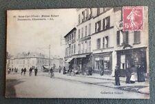 CPA. SAINT CYR L'ÉCOLE. 78 - Maison Robart. Chaussures. 1928. Hôtel. Commerces.