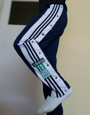 Adidas 90'S Vintage Tracksuit Bottoms, Poppers Bottom, Retro, Size D5 F174