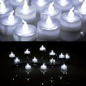 12 X LED Flameless Tea Light Tealight Candle Wedding Decoration Battery Included
