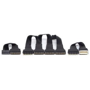 BLACK Parallel Cable KIT 2 | for Philips Hue Lightstrip Plus V3 | Split 3,4+ way