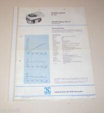 Typenblatt / Technische Daten Sachs-Stamo S B 77 - Stand 1968!