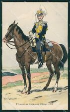Military Russia Russian Soldier Robiquet Vosnessensk Cavalry postcard XF3624
