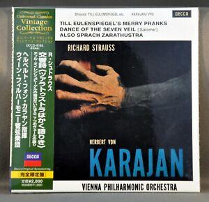 KARAJAN-R.STRAUSS: ALSO SPRACH ZARATHUST UCCD-9193 JAPAN Mini LP CD Factor Seald