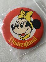 "Vintage Disneyland Minnie Mouse Walt Disney Productions 3 1/2"" Pin Back Button"