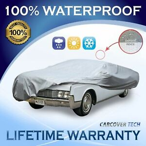 100% Waterproof/ All Weatherproof Full Car Cover For Lincoln Continental 2000+