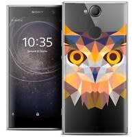 """Coque Housse Etui Pour Sony Xperia XA2 (5.2"""") Polygon Animal Souple Fin Hibou"""