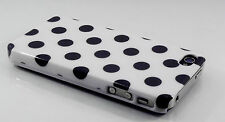Cover Case Skin iPhone 4 4S White with Large Black  Dots