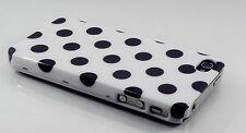 COVER Custodia pelle iPhone 4 4 S bianco con grandi macchie nere