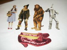 5 USED PAPER HOUSE WIZARD OF OZ GREETING CARDS DOROTHY-SCARECROW-TIN MAN-LION +
