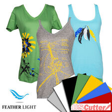 "Feather Light Heat Transfer Vinyl, Thin HTV by SISER, 15""x12""(5,10yd) - USCutter"